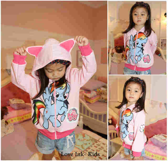 JKKD79 - Jaket Anak Little Pony Pink Rainbow Dash