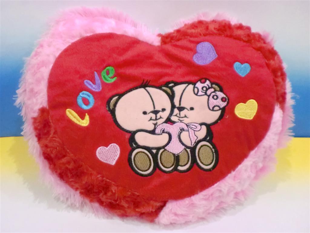 harga Bantal Love - Love Bear Pink Merah Tokopedia.com
