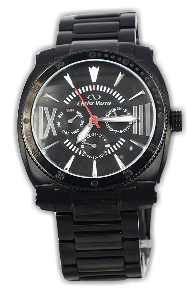 Christ Verra Cv 90357g-16 jam tangan pria staninless-45mm ori