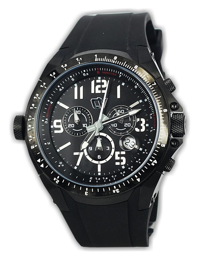 Christ Verra Cv 83220g-36 jam tangan pria karet hitam-48mm ori