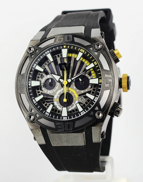 christ Verra Cv 9633g-36 jam tangan remaja karet hitam-45mm ori
