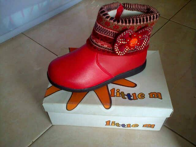 harga sepatu boot Little M  no 27, 28, 29, 30, 31 Tokopedia.com