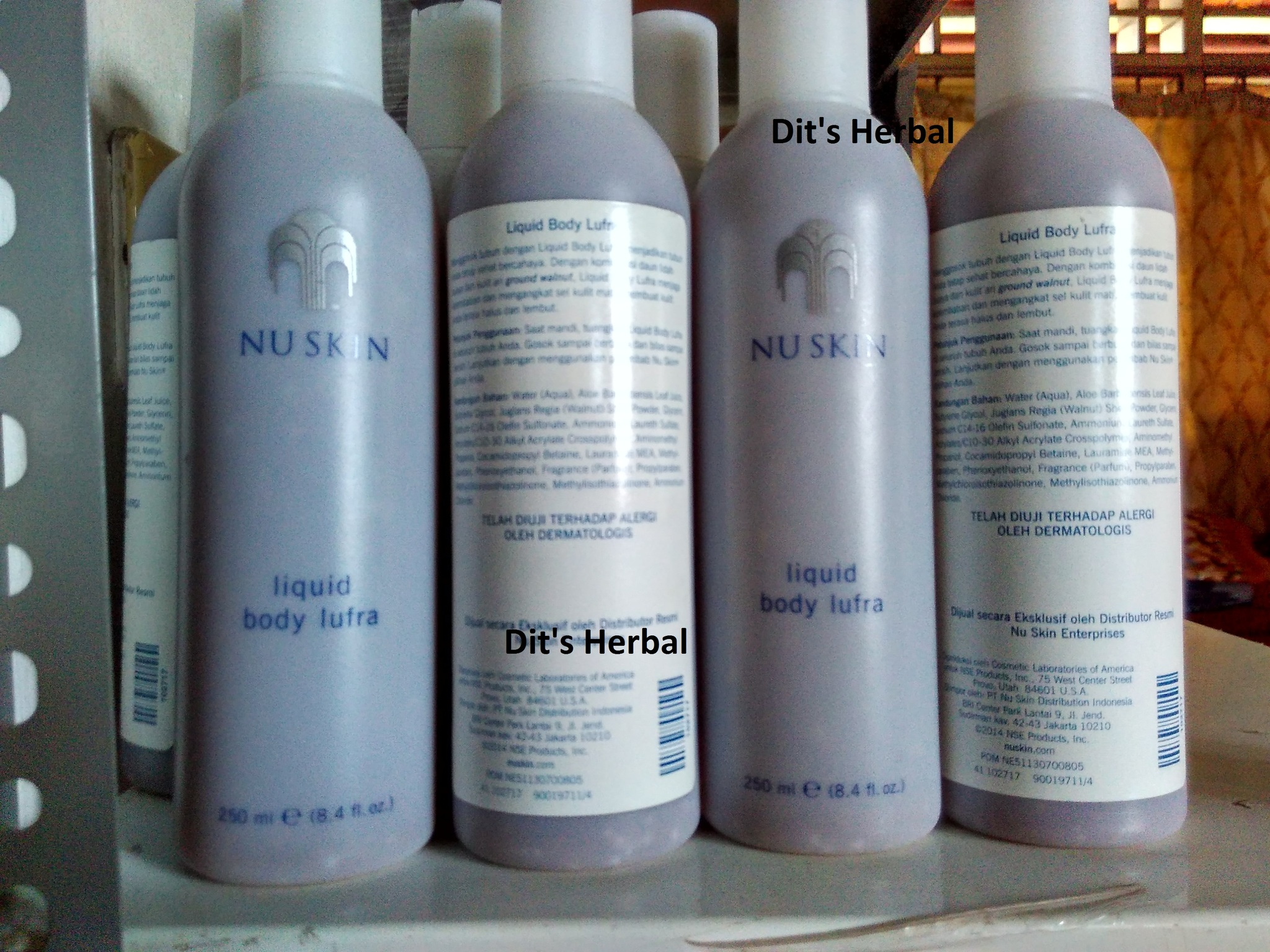 harga NuSkin Liquid Body Lufra - Body Scrub Original 250 ml Tokopedia.com