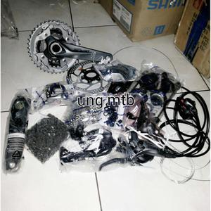 Groupset Shimano Alivio Mega Elite 3x9 Speed Ht2  Harga Teman 141822