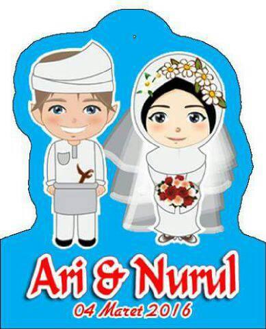 Souvenir Pernikahan gantungan kunci model HIJAB Muslim