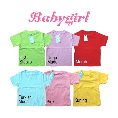 Kaos Oblong Kaos Polos Bayi Anak Perempuan 0 2 Tahun .