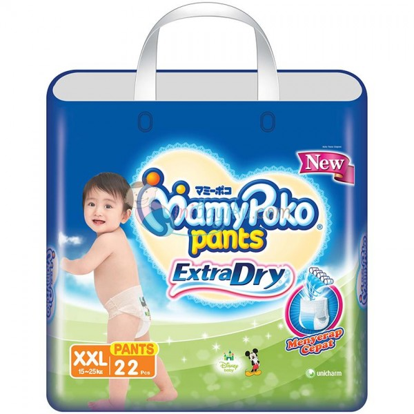 harga MamyPoko ExtraDry XXL22 Pants Size XXL (15 - 25kg) Tokopedia.com