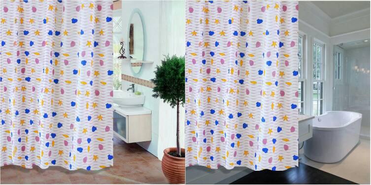 harga Shower curtain / gorden / tirai kamar mandi kerang bintang laut Tokopedia.com