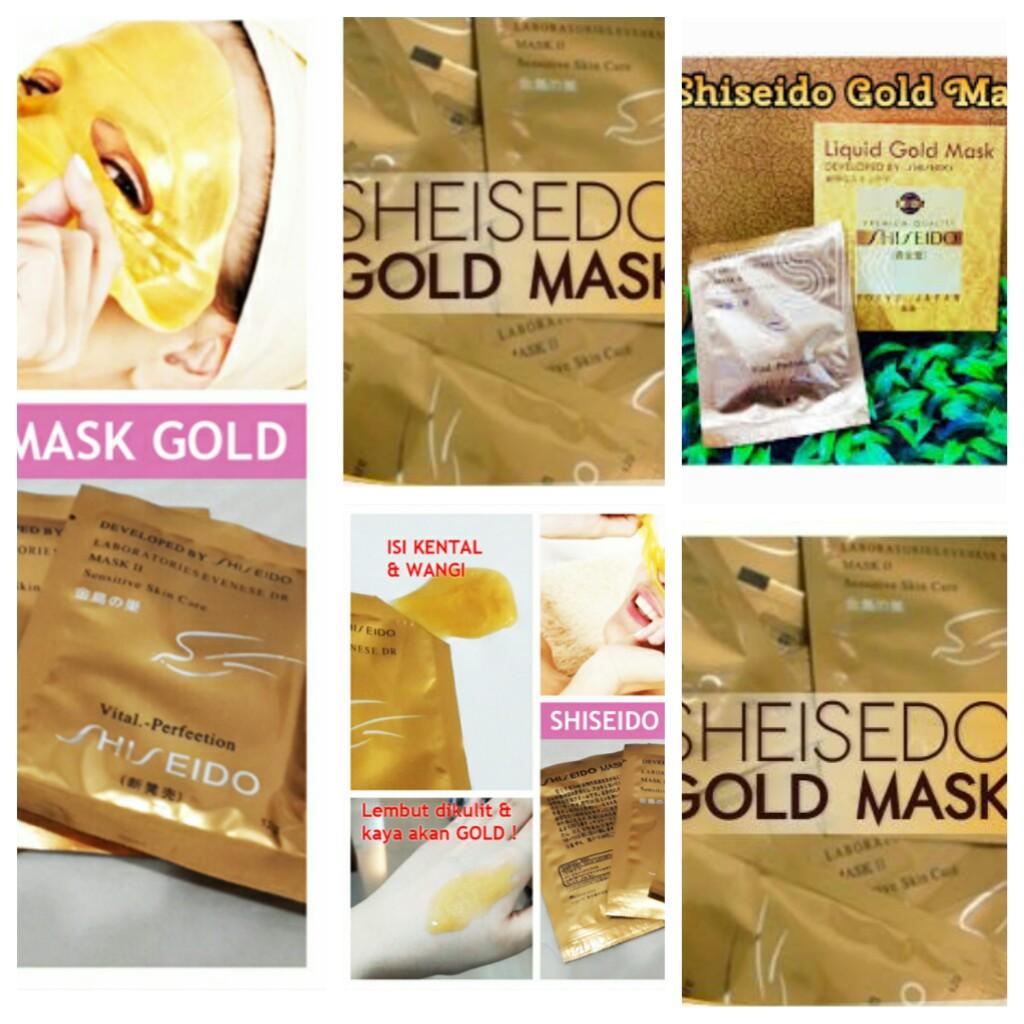 Jual Shiseido Gold 24k Whitening Mask Agita Kosmetik Tokopedia Masker Wajah