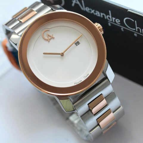 harga Alexandre Christie AC 8357 Men Silver Combi Rose Gold Tokopedia.com
