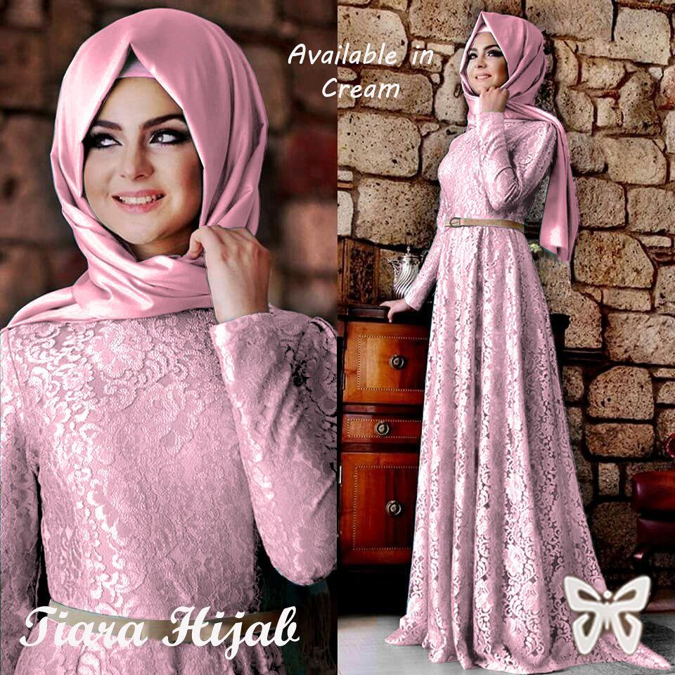 Baju Gamis Hijab Tiara Hijabers Jual Wanita Muslim Dress Gaun Brokat
