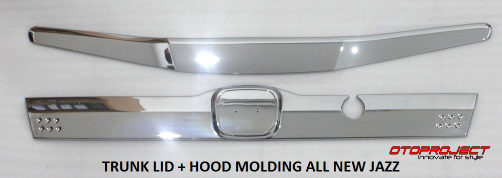 Engine Hood (Hood Moulding) Honda Jazz 2008-2013 Chrome