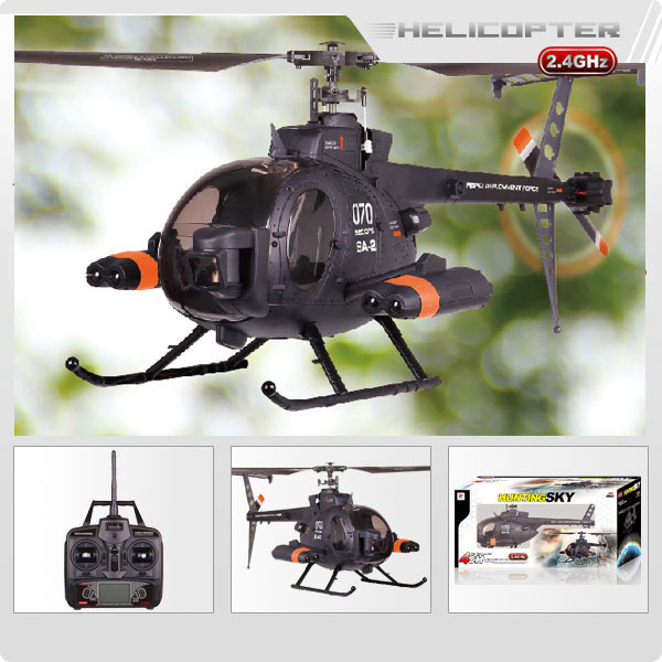 FX070C 2.4G 4CH 6Axis Gyro Flybarless MD500 Scale