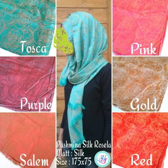 Pashmina Silk Rosela Jilbab Hijab Premium