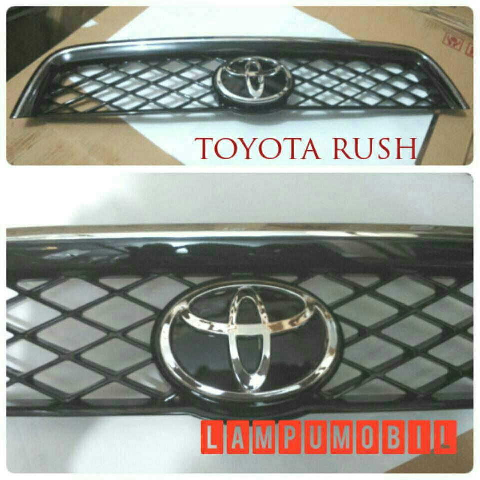 Jual Front Grille / Grill Depan Toyota Rush 2007-2014 (Chrome Black) - LampuMobil | Tokopedia