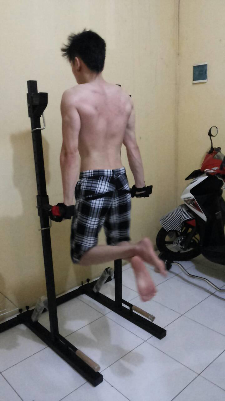 Jual penyangga stik barbell squat rack multifungsi