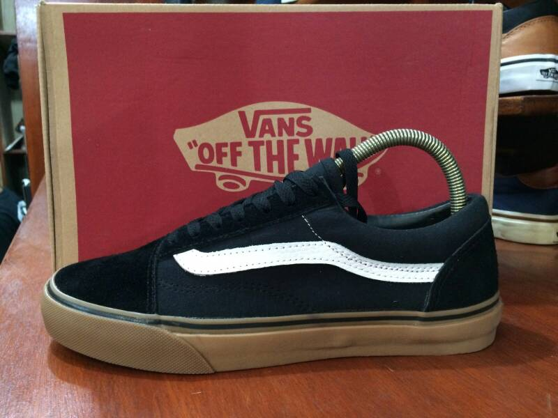 jual vans old skool black gum original
