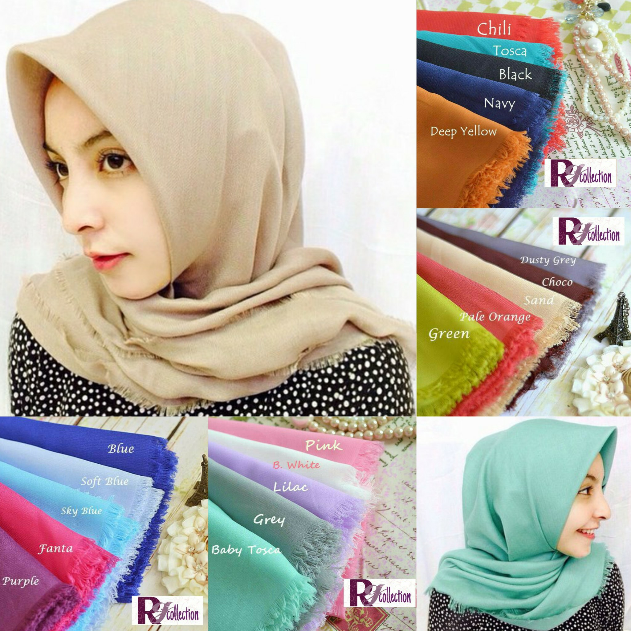kerudung hijab pashmina nazwa hanna rawis persegi 4 segi4 segi 4