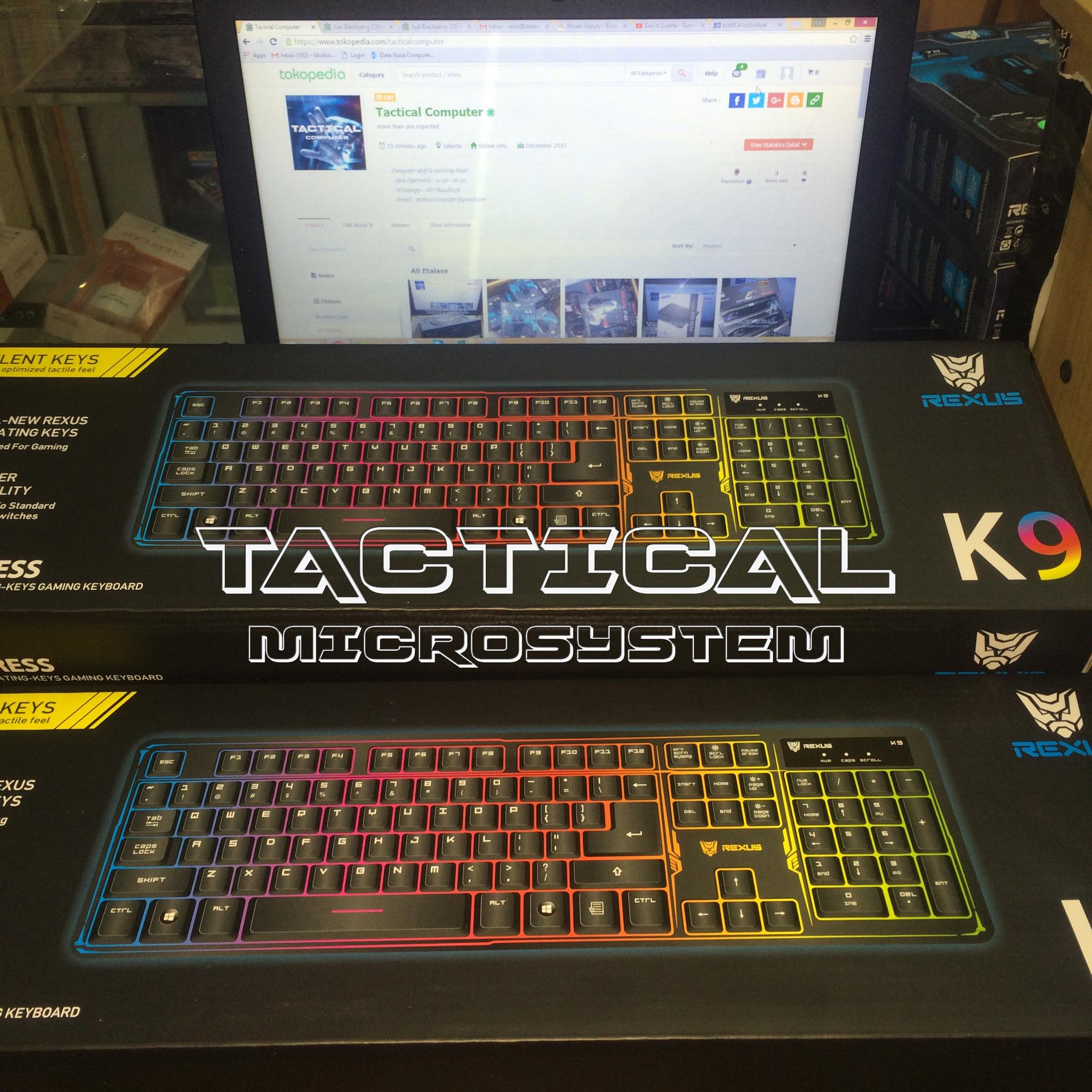 Rexus K9 Fortress Chroma Gaming Keyboard Daftar Harga Terbaru K9tkl Jual Murah Semi Mechanical Led Backlit Tactical Microsystem