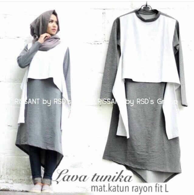 blouse hijab lava tunika mat katun  hijab/tunik/top/bluse muslim