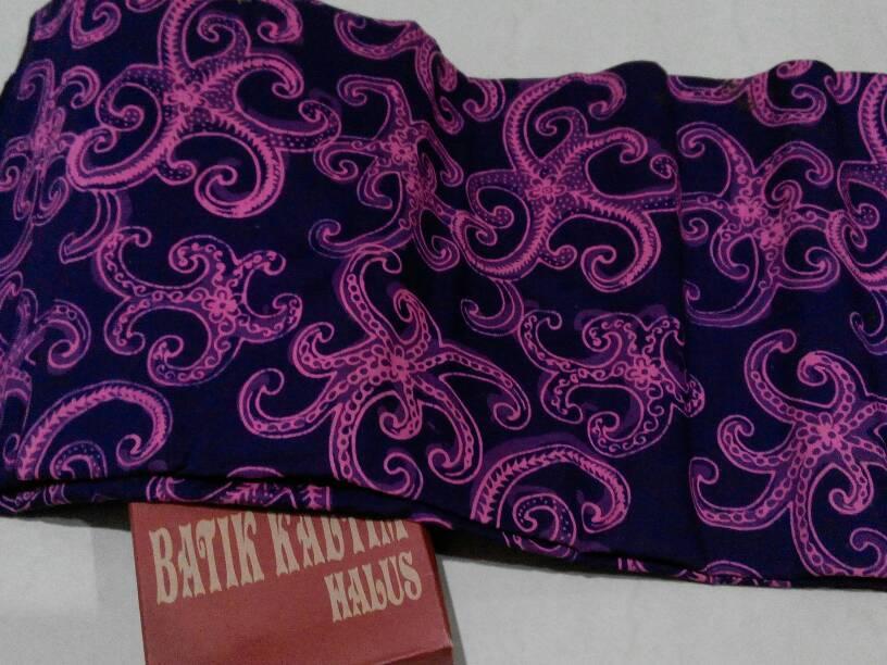 Jual Kain Batik Tulis Kalimantan bahan katun  ungu  baristitik