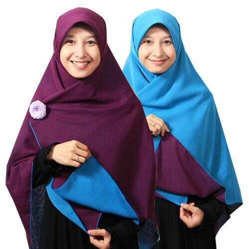 jilbab hijab syar'i kerudung segiempat bolak balik murah grosir