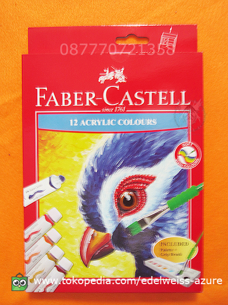 Faber Castell Acrylic Colours 12 Warna