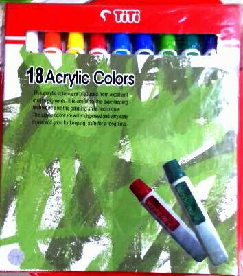 Cat Acrylic Titi 18 Warna