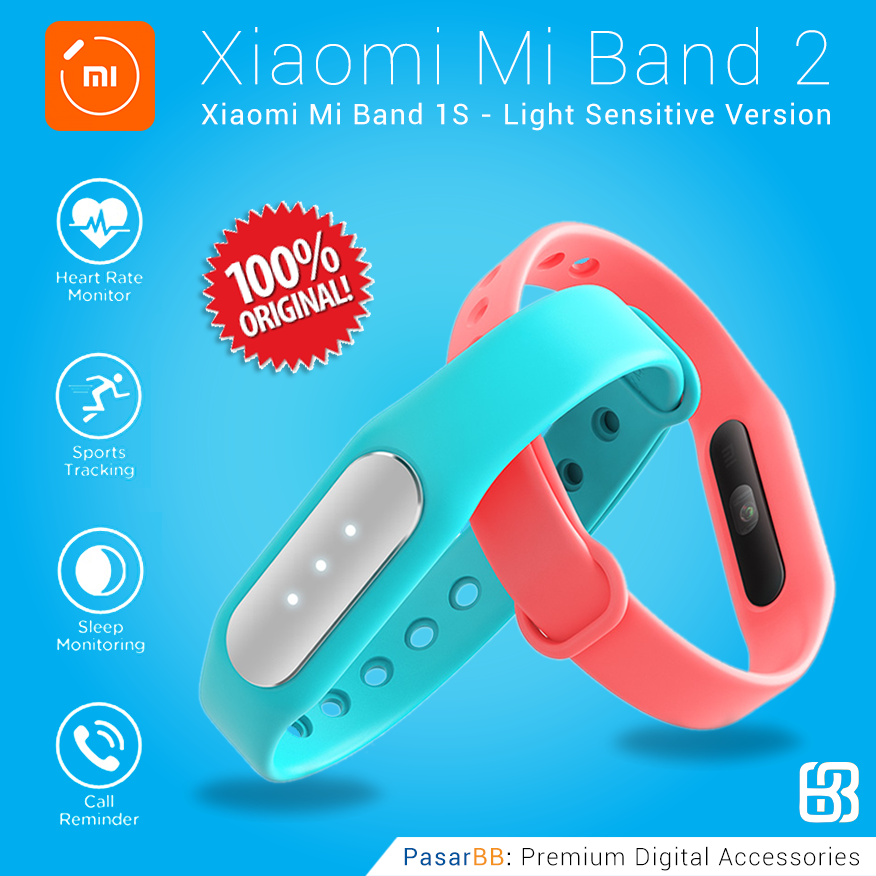 jual xiaomi mi band 2 1s pulse light sensitive version. Black Bedroom Furniture Sets. Home Design Ideas
