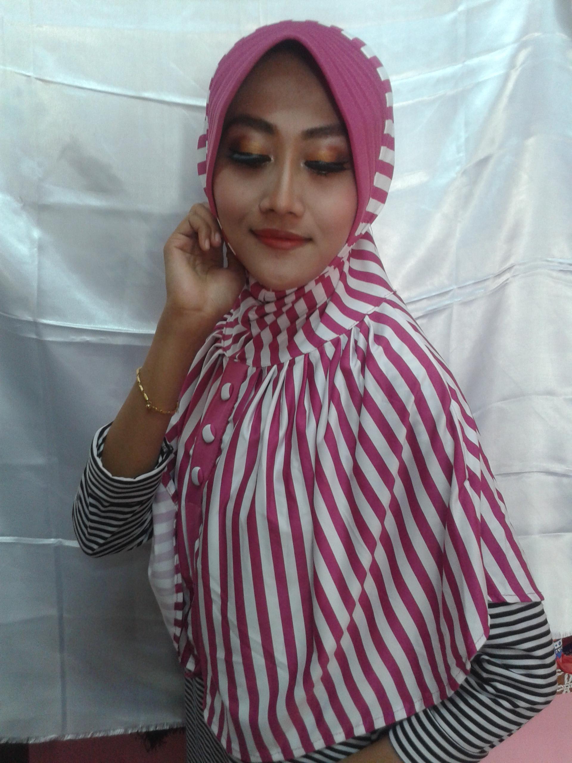 Jilbab Instant Mono Kancing Uut IMKU1(Grosir Kerudung/Hijab Murah)
