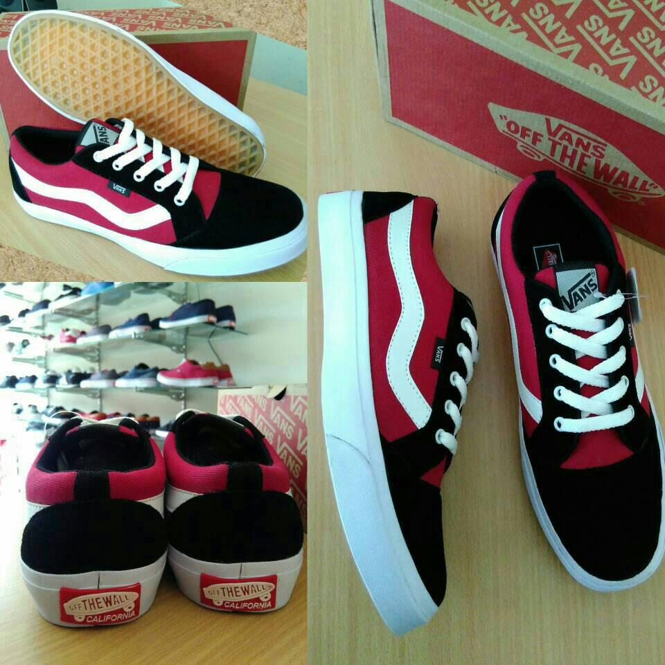 Jual Sepatu Vans Old Skool Sol Ifc Hitam List Merah Tans Collection Tokopedia