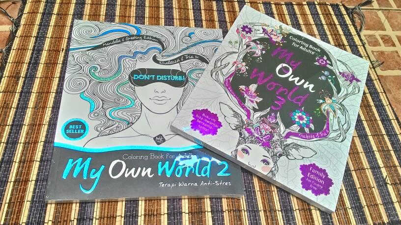 Paket Hemat My Own World 2 Dan 3terapi Mewarnai Anti Stress