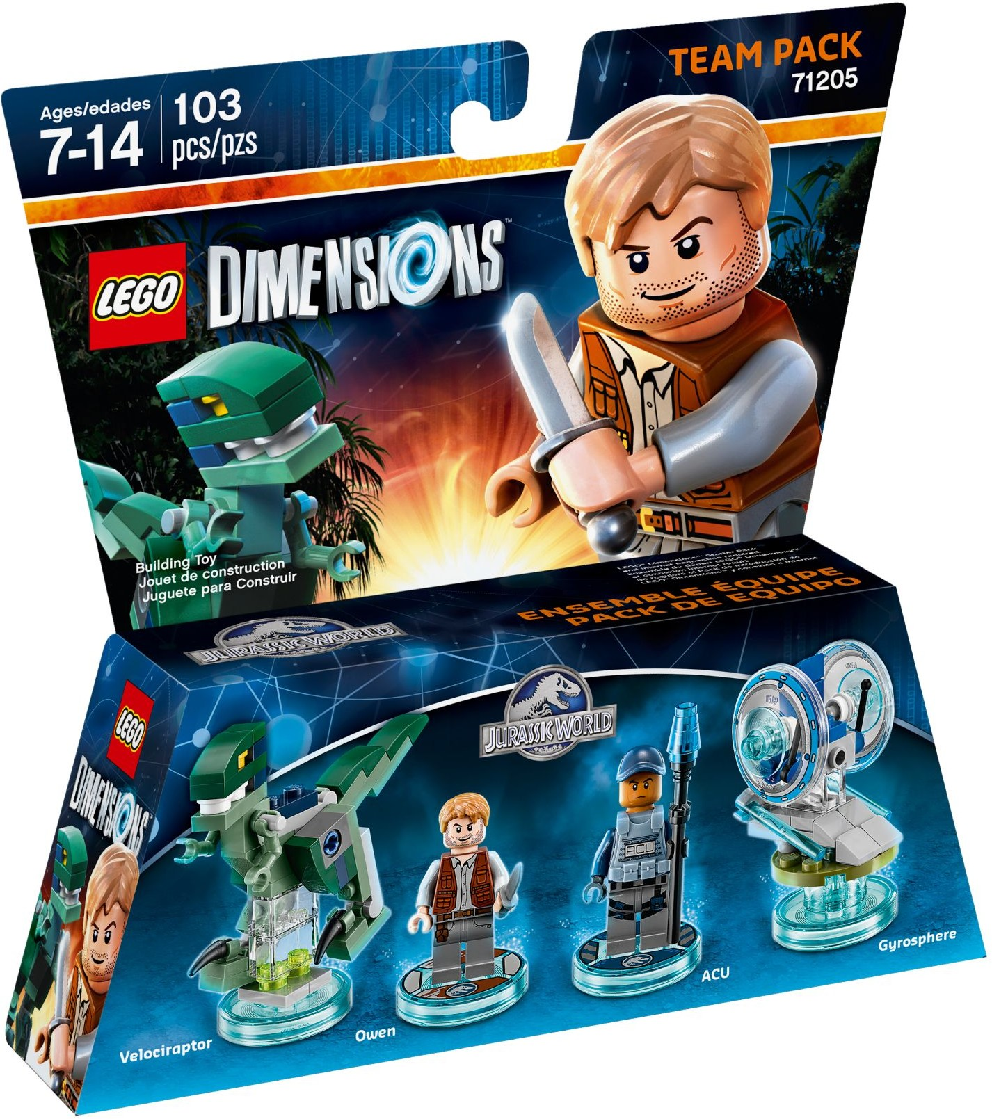 LEGO 71205 - Dimensions - Team Pack: Jurassic World