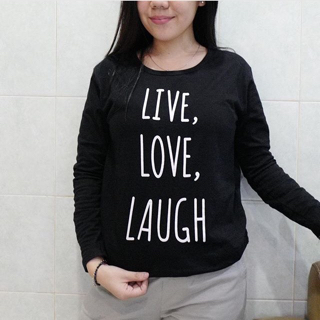 kaos hijab (hijabers) lengan panjang / tumblr tee / Live Love