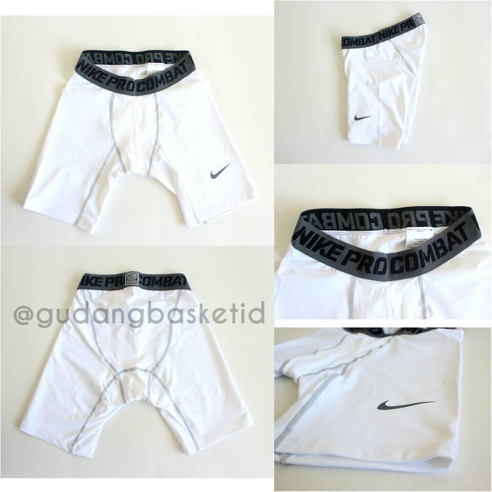 Jual Nike Pro Combat Npc Shortpant Celana Pendek Ketat Putih Gudang Basket Indonesia Tokopedia