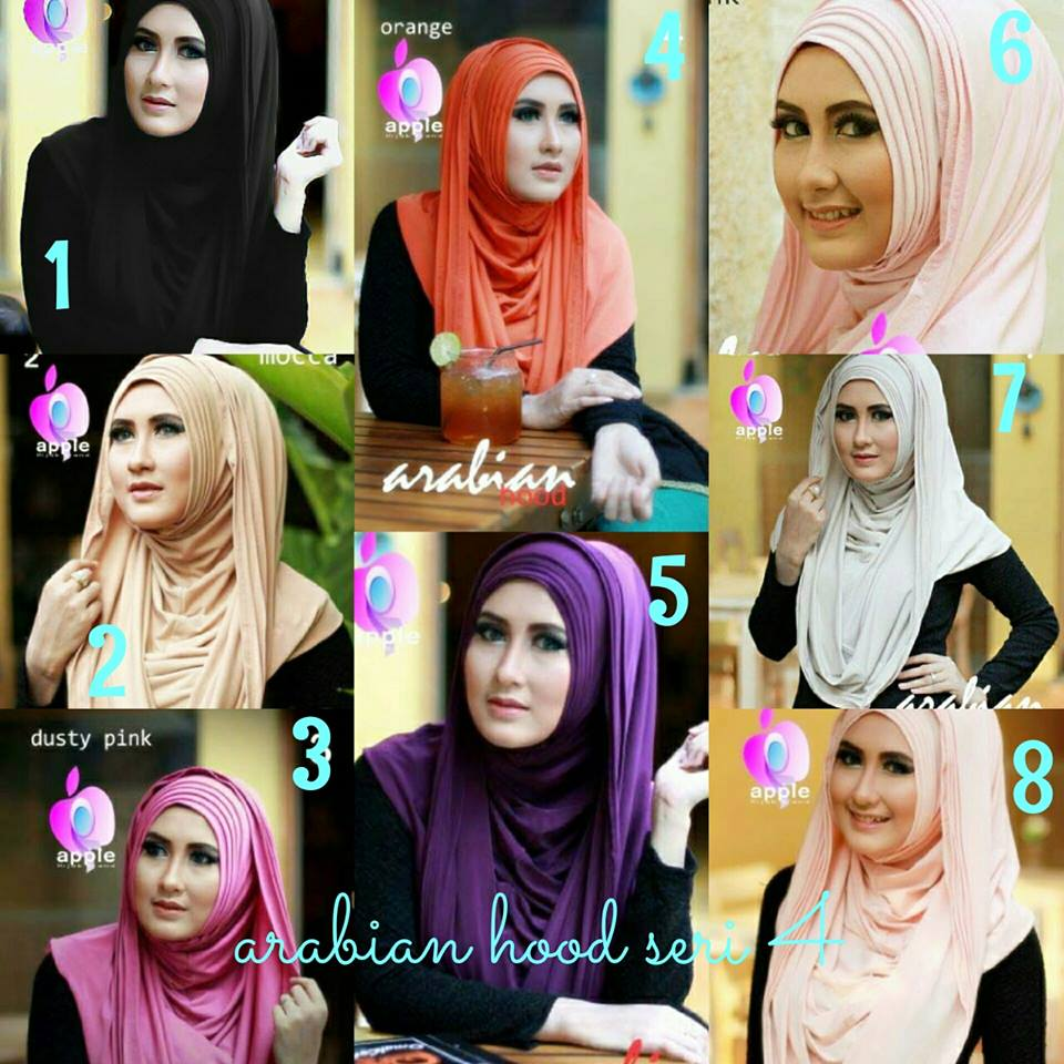 Jilbab Arabian Hood New Series by Apple Hijab