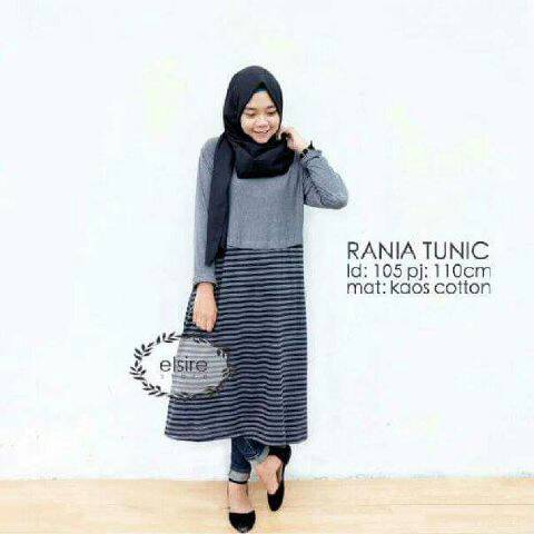 rania tunic kaos /top/blouse hijab/tunik dress