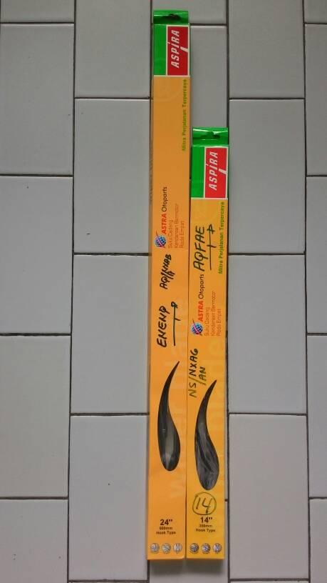 Wiper Blade / Karet Wiper Vios, Yaris , Honda Jazz, City, New City.