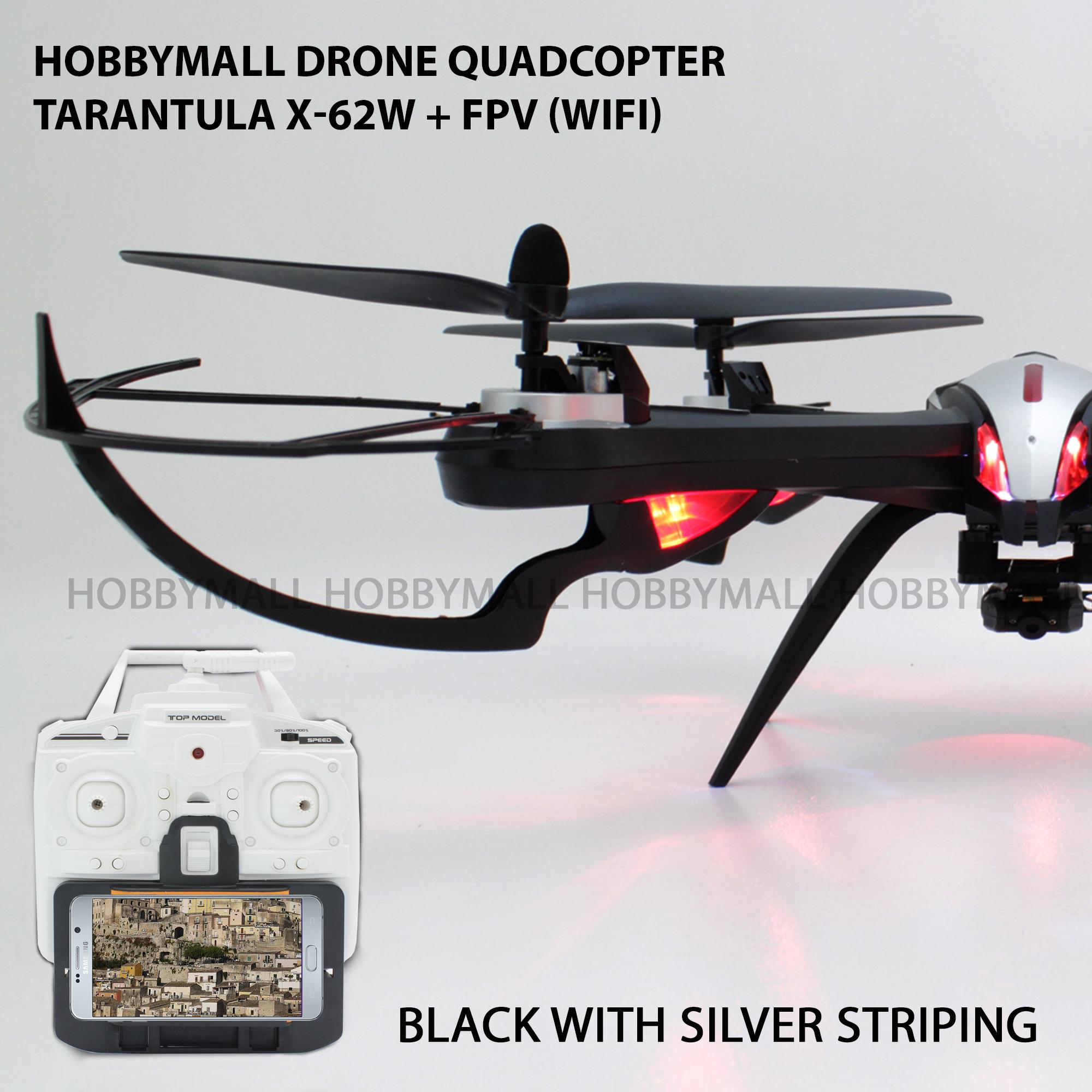HOBBYMALL DRONE QUADCOPTER TARANTULA X-62 W + FPV(WIFI)