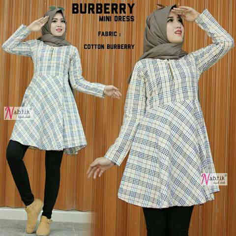 blouse burberry top katun/hijab/top/tunik/bluse