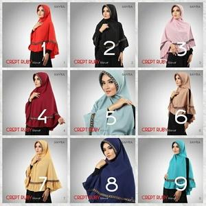 Hijab Crept Ruby Sayra / Ruby Songket