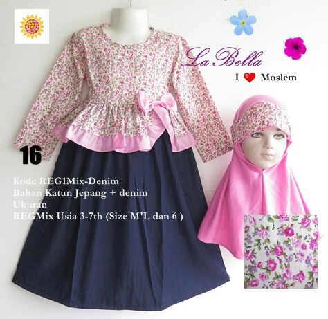 Jual Baju Muslim Gamis Anak Labella Lucu Murah 2-6 tahun - Galeri ... 3e10bd0520