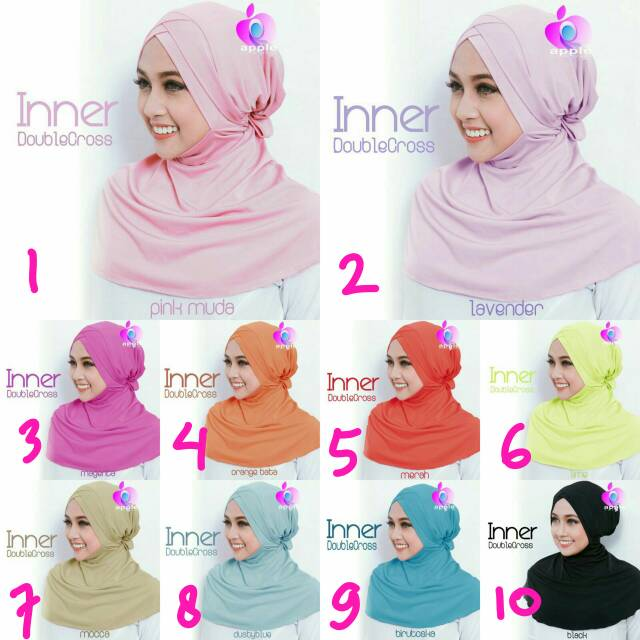 Inner Double Cross By Apple Hijab Brand