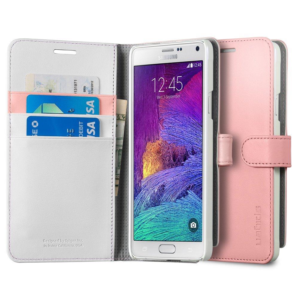 Spigen Galaxy Note 4 Case Wallet S - Pink