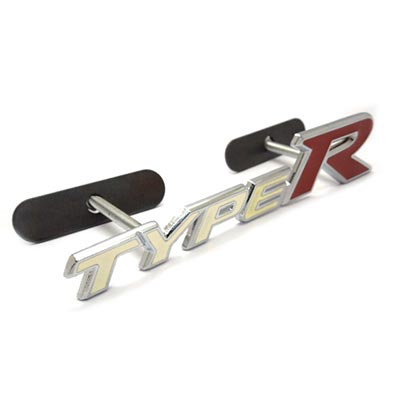 Emblem Grill Mobil Honda Type R Putih Freed Jazz HRV CRV Civic