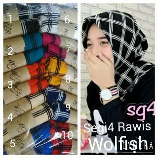 jilbab segi empat/ hijab wolfish/ hijab monochrome