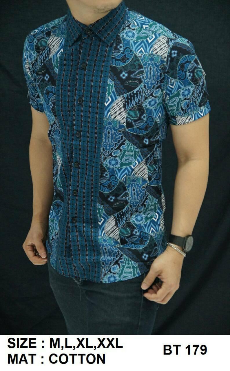 Batik Slim Fit Pria - Kemeja Motif Keren BT179
