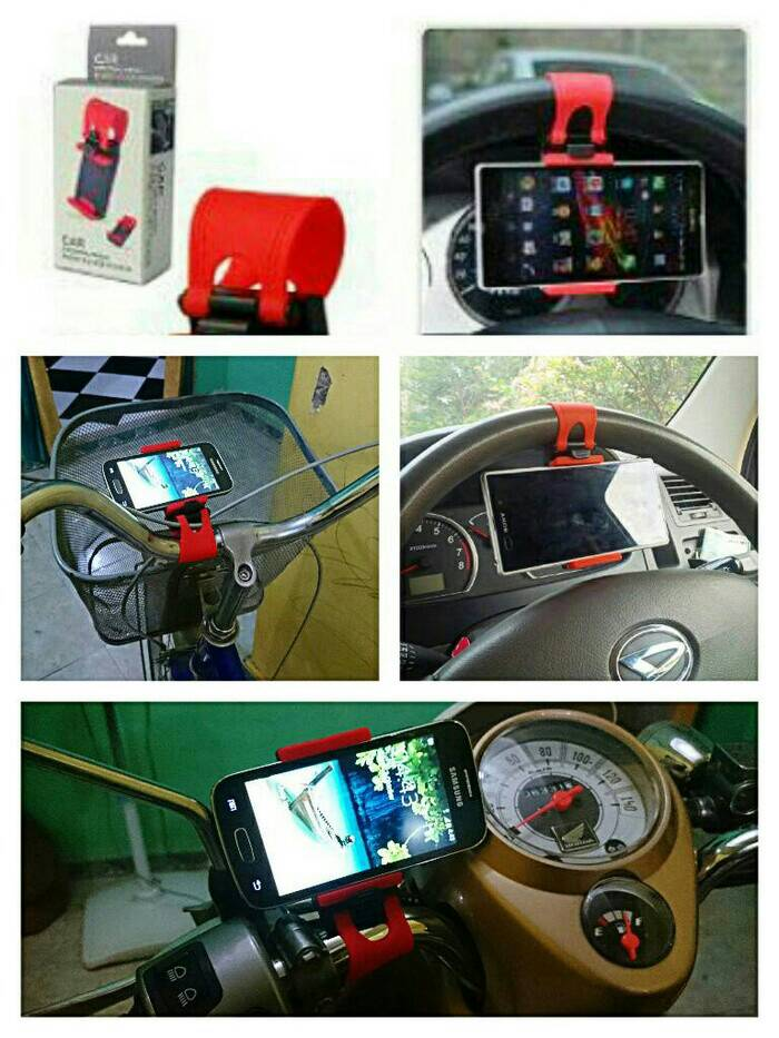 Jual Holder Mobil Car Stand Handphone Gps Di. Phone Holder Bracket Universal Tempat Hp .