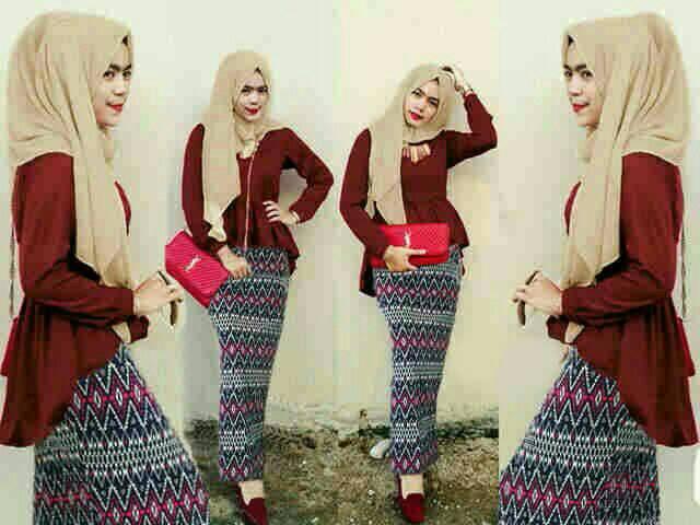 Set Baju Hijab AF2409