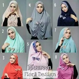 Jilbab syari Mauren/ Khimar Maureen/ Hijab Maureen Pita/ Khimar Mauren